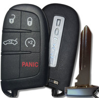 Dodge 5 button Tombstone Keyless-Go Key COMPLETE TRUNK / Remote Start OEM fob smart key