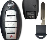 Nissan Altima or Maxima 5 Btn S180144310 285E3-4RA0B Remote Key Fob KR5S180144014