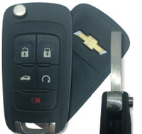Chevrolet 5 Btn 13500221 Remote Key Fob OHT0106512