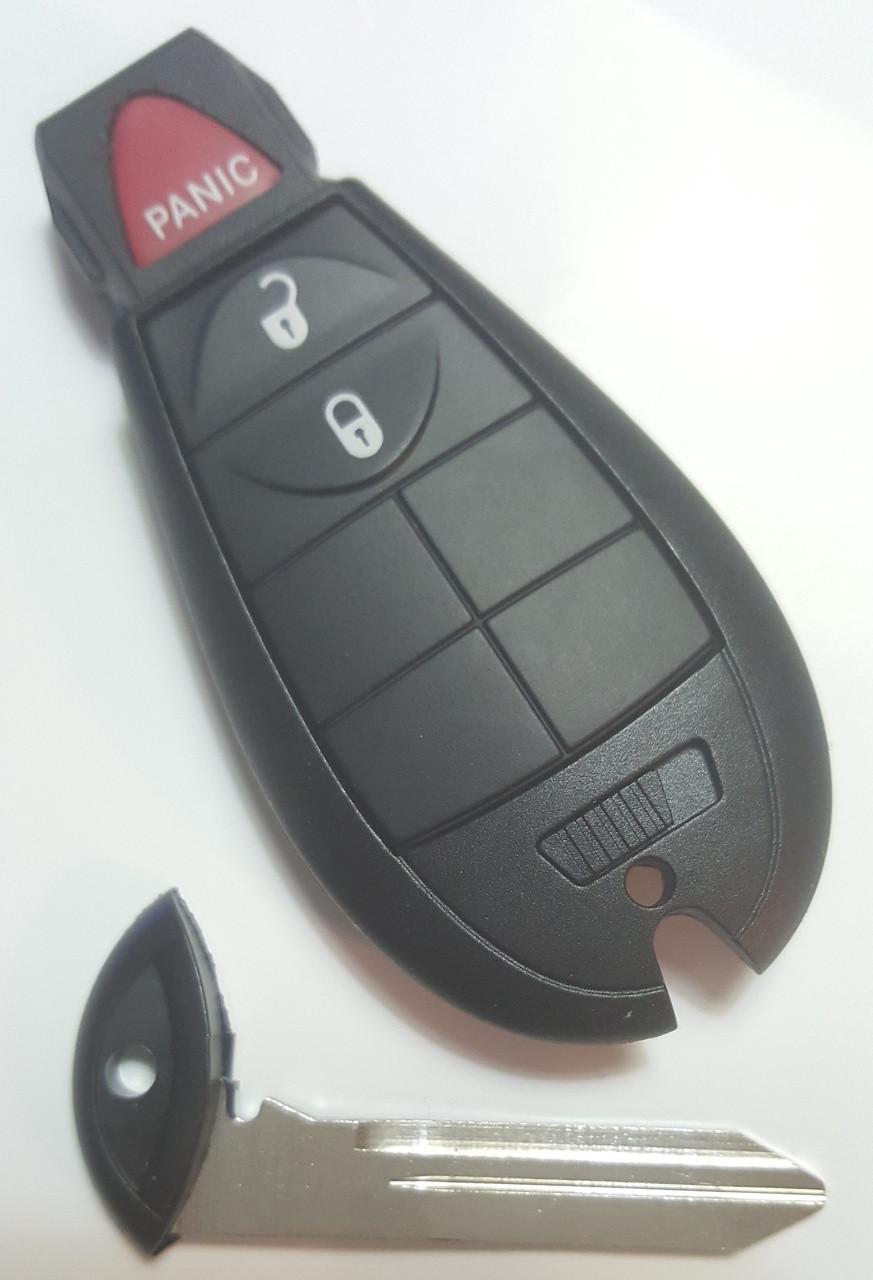 Dodge 3 button COMPLETE OEM Fob Fobik Smart Key Remote panic lock unlock
