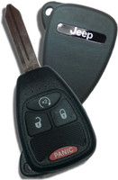 Jeep Liberty Patriot Compass Wrangler 4 button Remote Start Key  OEM