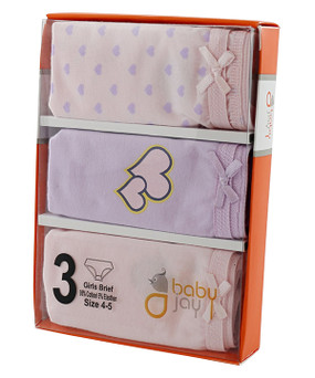 Girls 3Pk Briefs