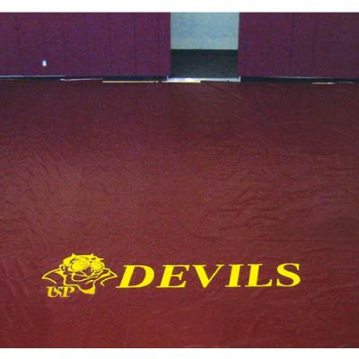 """42"""" Floor Cover Lettering for Gym Floor Covers 2 color"""