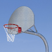 MacGregor Double Rim Extra-Tough Playground Basketball System with Aluminum Backboard 4' Ext