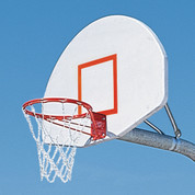 MacGregor Heavy Duty Basketball System with Double Rim and Chain Net with 4' Extension and Shooter Square