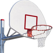 MacGregor Adjustable 3 1/2 Inch Post with White Backboard With Shooters Square