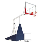 White Indoor Portable Porter 735 Adjustable Height Basketball System