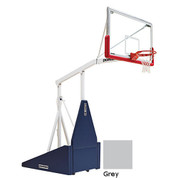 Folded Grey Indoor Portable Porter 735 Adjustable Height Basketball System