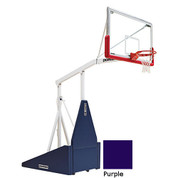 Purple Indoor Portable Porter 735 Adjustable Height Basketball System