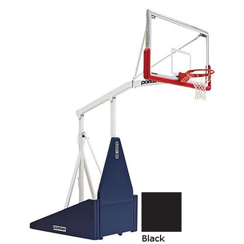 Black Indoor Portable Porter 735 Adjustable Height Basketball System