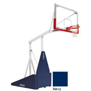 Navy Indoor Portable Porter 735 Adjustable Height Basketball System