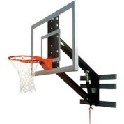 Bison Zip Crank Wall Mounted Adjustable Height Basketball System
