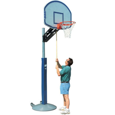 Bison QwikChange Adjustable Height Rectangle Backboard Basketball System