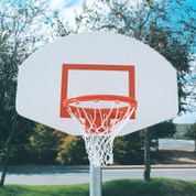 Universal White Replacement Aluminum Basketball Backboard for Home or Park