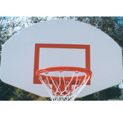Universal White Powder Coated Aluminum Basketball Backboard with Rim and Net