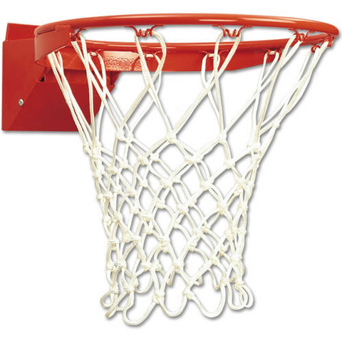 Official Spec Bison ProTech Breakaway Indoor Basketball Rim and Net for Goal