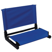 Black Portable Large Deluxe Stadium Chair Stadium Bleacher Seat with Back Support