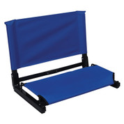 Brown Portable Patented Stadium Chair Stadium Bleacher Seat with Back Support