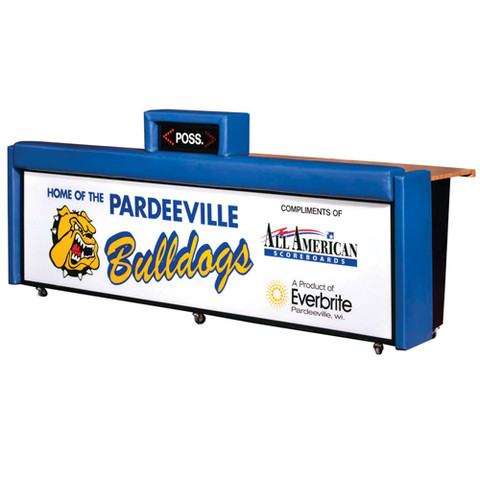 Everbrite Free Standing Portable and Padded Scoring Table with Sponsor Panel