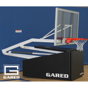 Storing the Gared Sports Hoopmaster C72 Portable Basketball Goal is easy.