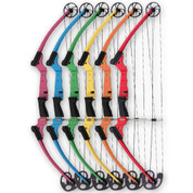 Red Left Genesis Fiberglass and Aluminum Instruction Archery Bow for Students