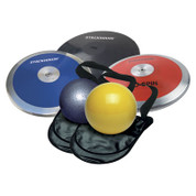 High School Girl's Discus and Shot Put Throws Equipment