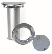"3.5"" Stainless Steel Floor Plate & Sleeve for Volleyball Standard Goal End Post"