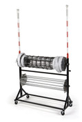 Volleyball Winding Net and Antenna Rolling Storage Cart - Stackhouse