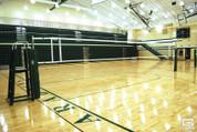 OmniSteel Collegiate Steel Telescopic One-Court Volleyball Net System
