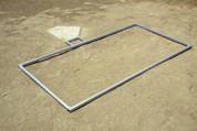 NFHS Softball Batters Box Layout Template for Chalking - 3' x 7' by Stackhouse