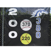 Yellow Softball w/ Horizontal Numbers (3'D)