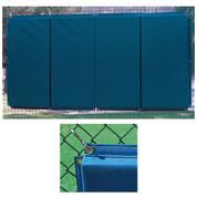 Folding Backstop Padding 4' x 12' - Yellow