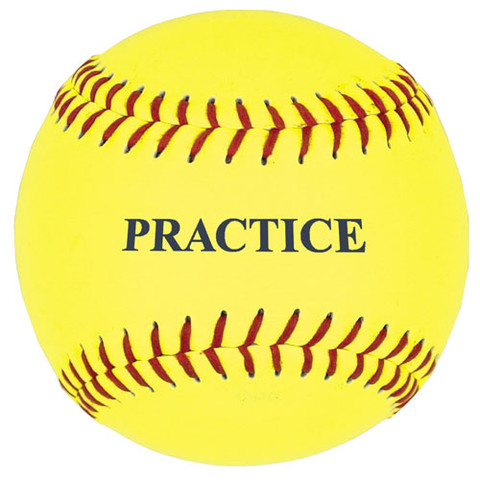 12'' Yellow Practice Softball