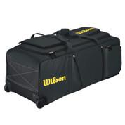 Wilson Pudge Catchers Bag on Wheels - Black