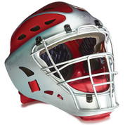 Youth Two-Tone Catcher's Helmet - Scarlet