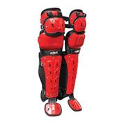 """Scorpion Double Knee LG 16"""" - Bk/Scarlet"""