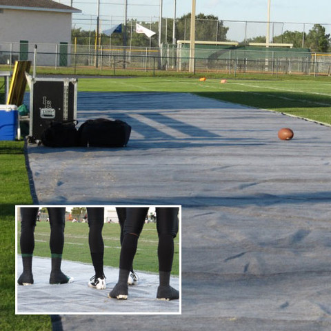 Sideline Protective Turf Mat - 15'x50' w/o Grommets