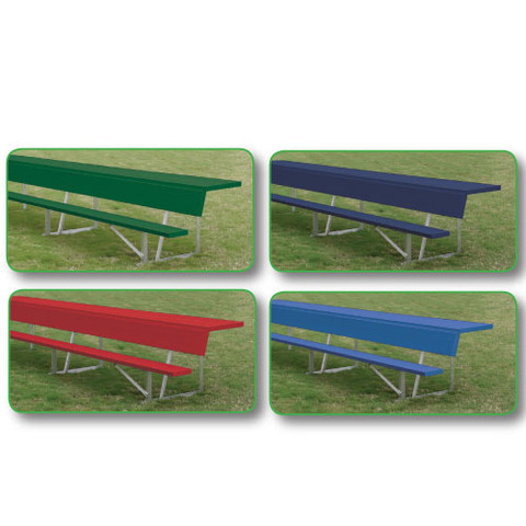 15' Players Bench with Shelf (colored) - Blue