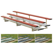 Portable Aluminum Bleacher-3 Row/42 Seat - Scarlet