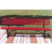 6' Custom Lettered Bench - Surface Mount