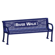 6' Laser Lettered Lexington Wave Bench