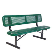 8' Bench w/ Back - Portable Perforated