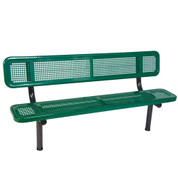 8' Bench w/ Back - In-Ground Perforated
