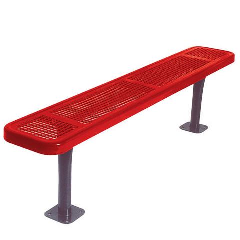 6' Park Bench w/o Back-Surf. Mnt Perf.