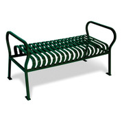 Hamilton Series 6' Bench with back