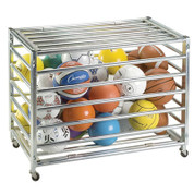 Lockable Ball Storage Locker from Galvanized Steel - Closed