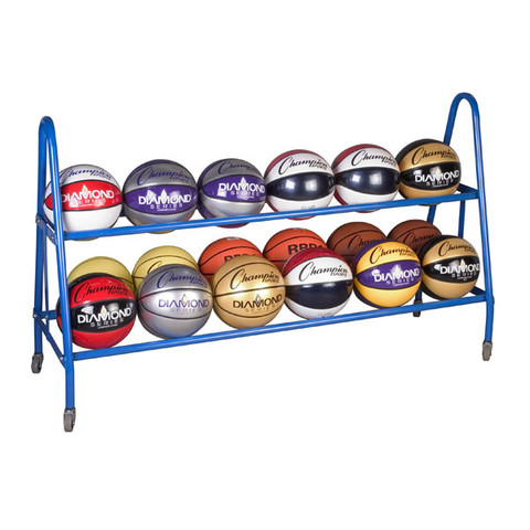Portable Ball Cart for 18 Basketballs