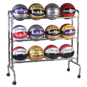 Portable Vertical Ball Cart for 12 Basketballs