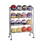 Portable Vertical Ball Cart for 16 Basketballs