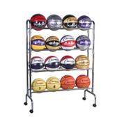 Portable Vertical Ball Cart for 16 Basketballs